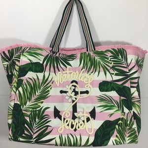 Victoria Secret Paradise Palm Anchor Tote Bag
